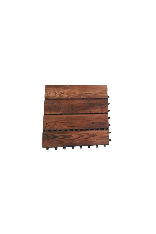 Klik plošča (30 x 30 x 2,2 cm, iz termično obdelanega bora z močnim plastičnim podnožjem, ki zagotavlja enostavno montažo in stabilnost)