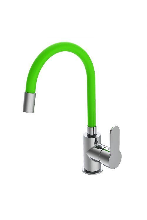 Armatura za pomivalno korito Camargue Flex (krom/zelena, sijaj, visoka, fleksibilna, nizkotlačna)