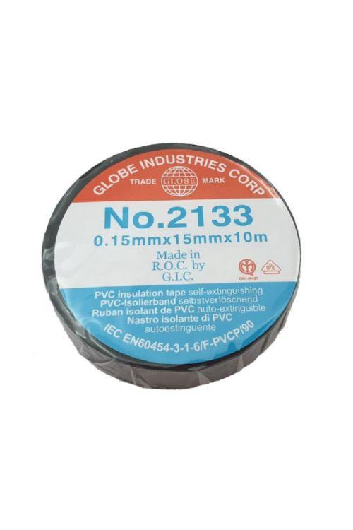 Izolacijski trak Exteh Globe tape (0.15 mm x 15 mm x 10 m, črn)