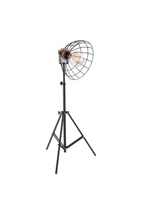 Stoječa svetilka Tween Light Vinto (40 W, črna in rjava, višina 175 cm)