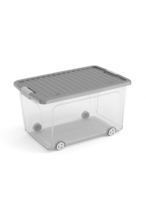 Zaboj za shranjevanje KIS W Box L (39 x 56,6 x 31,5 cm, transparenten/siv)