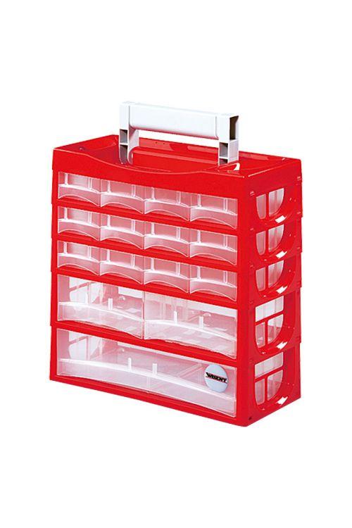 Predalnik za majhne dele Lockweiler P 15 (rdeč, število predalov: 15)