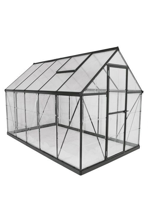 Rastlinjak Palram Hybrid (185 x 310 x 208 cm, črn)