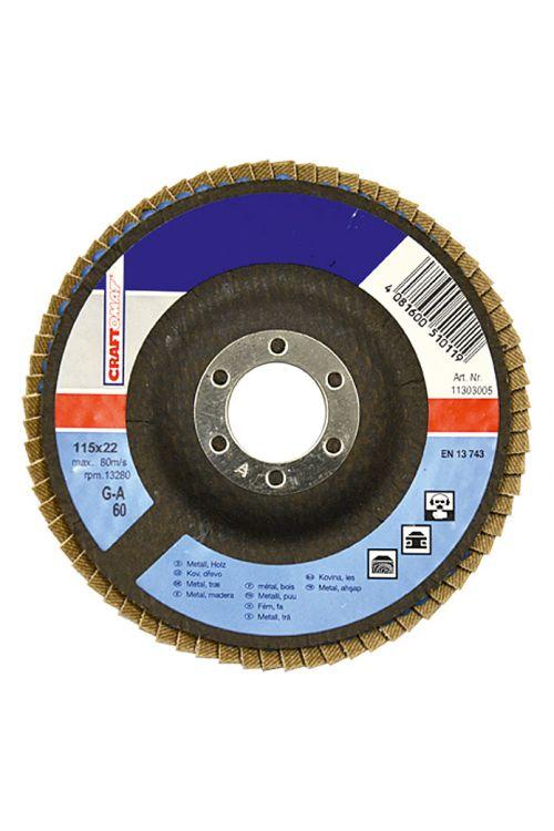 Brusilna plošča Craftomat G-A (premer plošče: 115 mm, granulacija: 60)