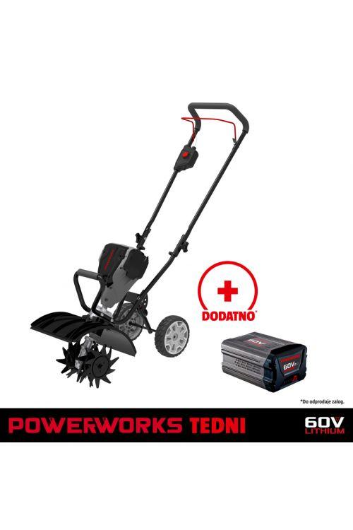 Akumulatorski prekopalnik POWERWORKS P60TL (60 V, brez baterije in polnilnika)