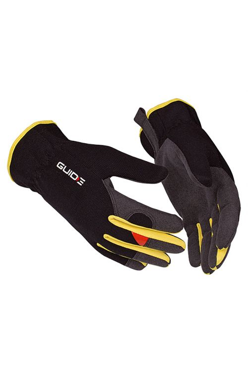 Delovne rokavice Guide 765 (velikost: 9, črno-rumene)
