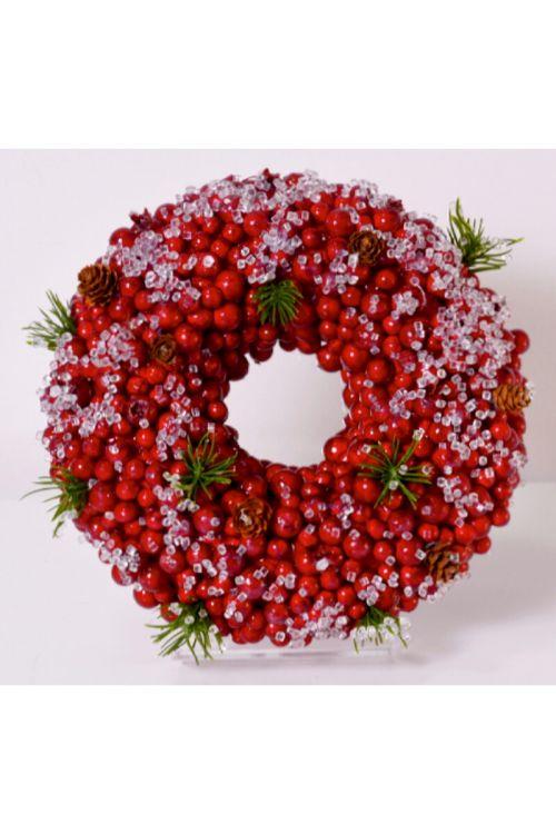 Okrasni venec 'Berry' (rdeč, premer: 23 cm)