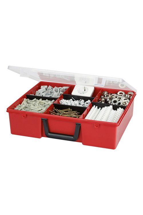 Organizator Wisent 5-3/4 (rdeč, število predalov: 3 fiksni, 4 nastavljivi, brez vsebine)