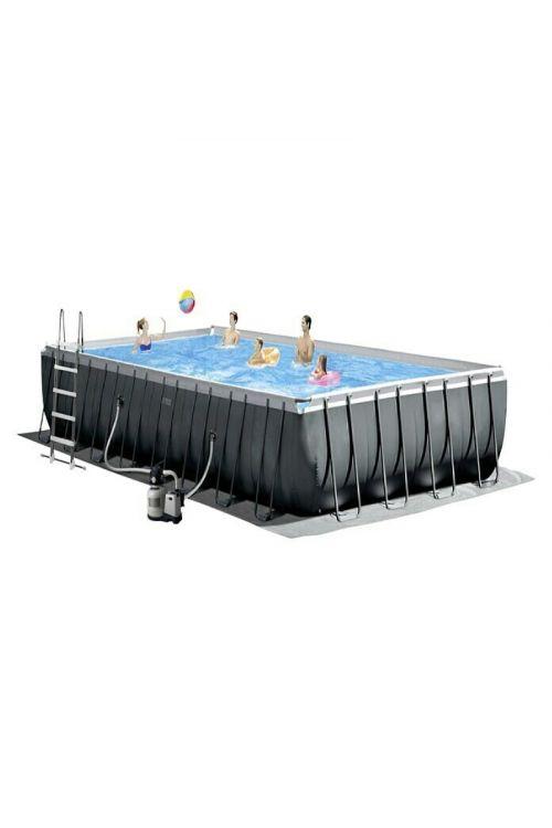Montažni bazen Intex Ultra Quadra XTR (d 975 x š 488 x v 132 cm, peščeni filter: 8.000 l/h, z lestvijo, zaščitno podlogo in ponjavo)
