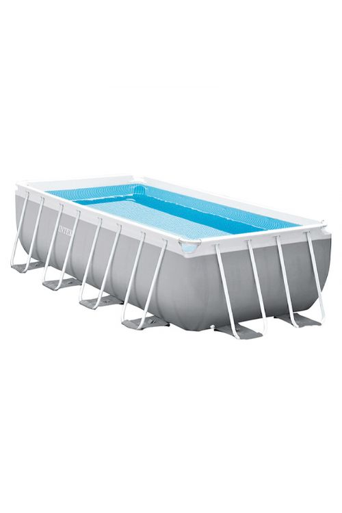 Montažni bazen INTEX Prism Quadra (d 400 x š 200 x v 100 cm, filter črpalka 2.006 l/h, z lestvijo)