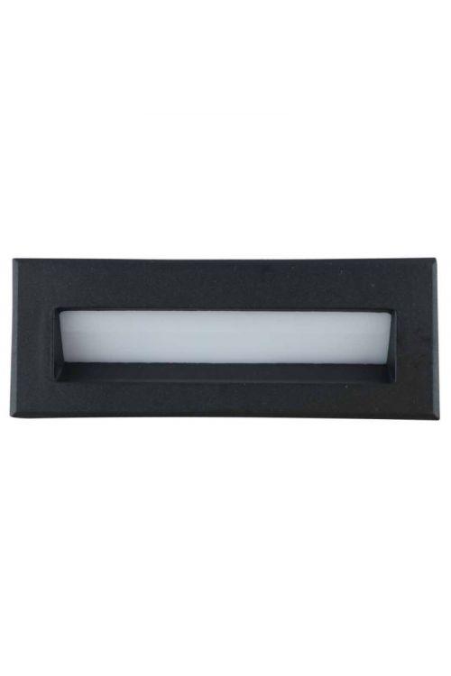 LED ZUNANJA VGRADNA SVETILKA BELFAST  (3 W, 6.000 K, IP54, d 13,5 x š 5,1 x v 6,5 mm, aluminij, steklo, črna)