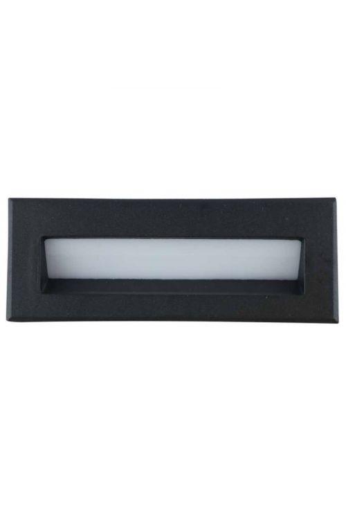 LED ZUNANJA VGRADNA SVETILKA BELFAST SMALL (3 W, 6.000 K, IP54, d 9 x š 6,5 x v 5 cm, aluminij, steklo, črna)