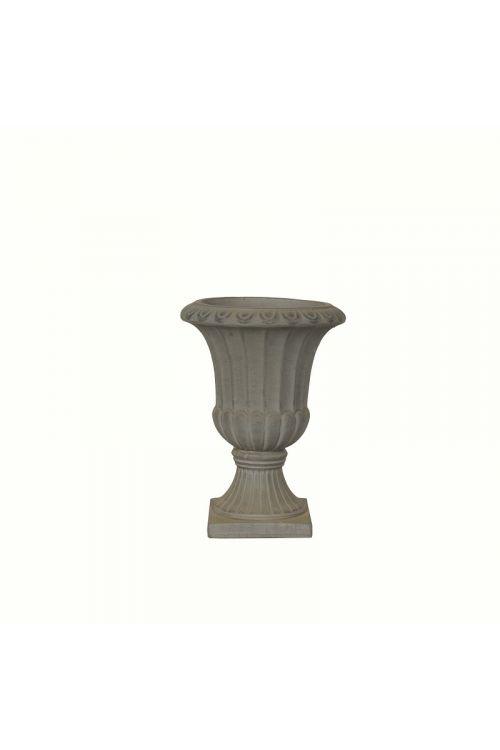 Cvetlična vaza s podstavkom (26 x 35 cm, temno rjava)
