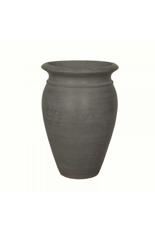 Cvetlična vaza (45 x 68 cm, temno siva, okrogla)