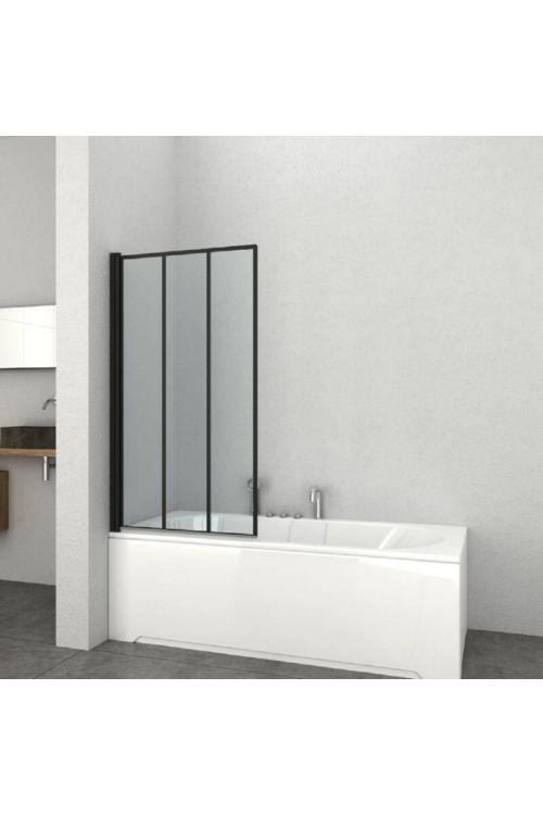 Stena za kopalno kad Elite (80 x 140 cm, črni profili, steklo: 4 mm)