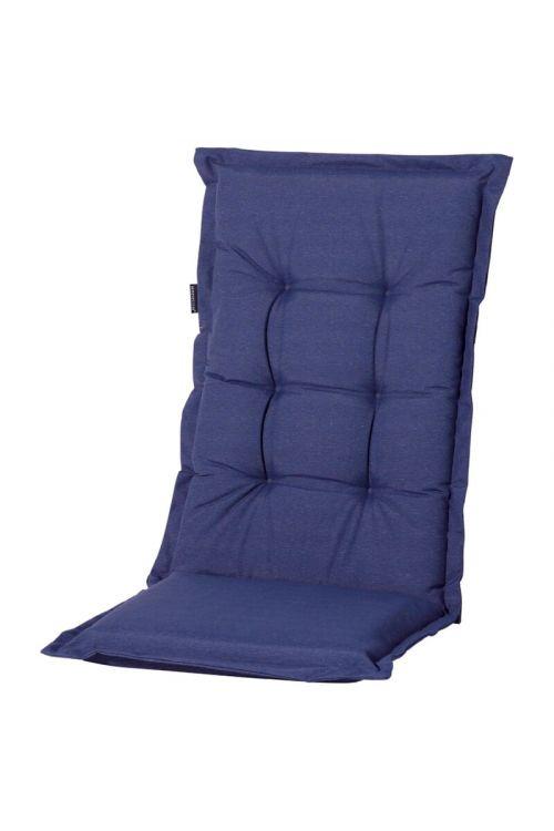 Blazina za stole z visokim naslonom Madison Panama Blue Sapphire (d 123 x š 50 x deb. 6 cm, 50% bombaž, 50% poliester, temno modre barve)