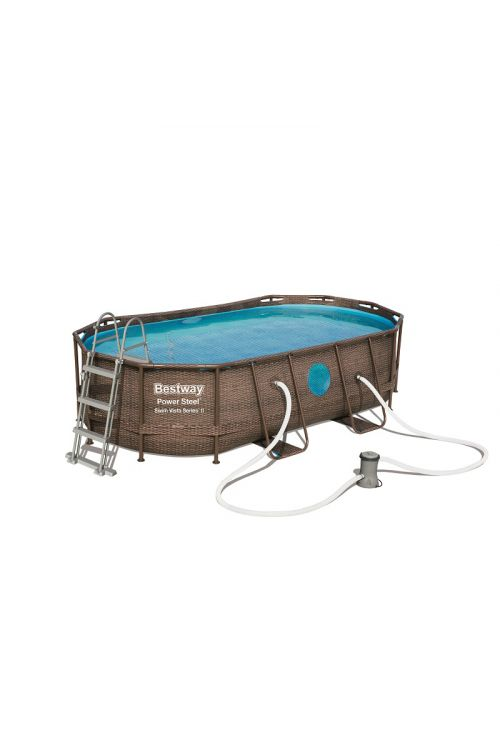 Montažni bazen Bestway Poweer steel Vista (d 427 x š 250 x g 100 cm, filtrska črpalka 2.006 l/h, lestev, ponjava)