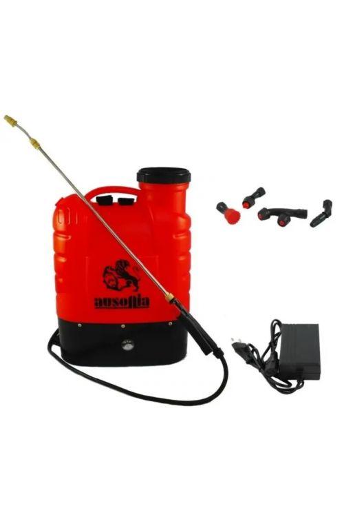 Nahrbtna akumulatorska škropilnica Ausonia (12 V, litij-ionska baterija, 16 l)