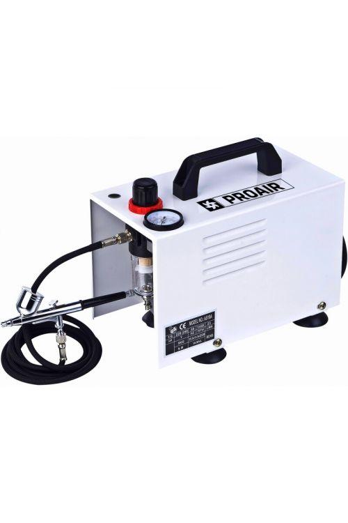 Brezoljni kompresor PROAIR Airbrush (124 W, 0-4 barov, 20–23 l/min)