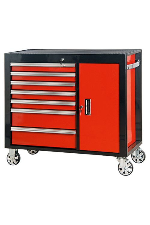 Delovni voziček Wisent Iron Edition 8T (rdeč/črn, jeklo)