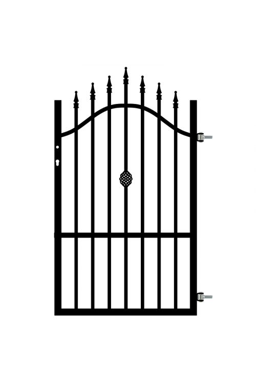 Ograjna vrata Polbram Rose (90 x 130-150 cm, desna, pocinkana)