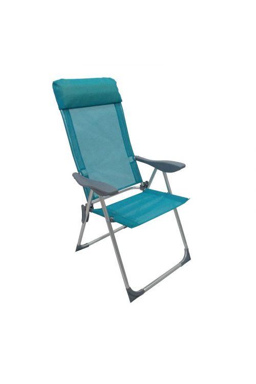 Stol za kampiranje Sunfun Ocean (d 59 x š 57 x v 109 cm, aluminijasto ogrodje, tekstilen, modre barve)