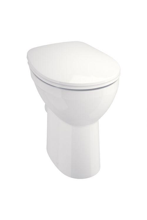 WC školjka Camargue Set Plus 75 2.0 (brez roba, odtok v steno, povišana za 7,5 cm, WC deska snemljiva s počasnim spuščanjem)