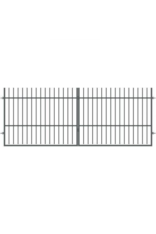 Dvojna ograjna vrata Polbram Tom (400 x 150 cm, brez kljuke in ključavnice, pocinkana)