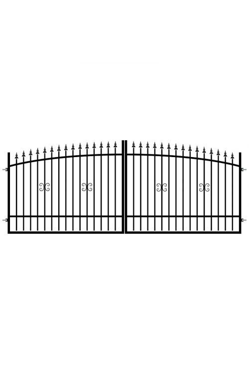 Dvojna ograjna vrata Polbram Monica (350 x 130-150 cm, železna)