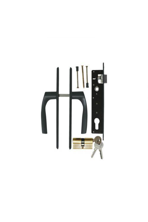 Kljuka in ključavnica za vrata Polbram (antracit mat)