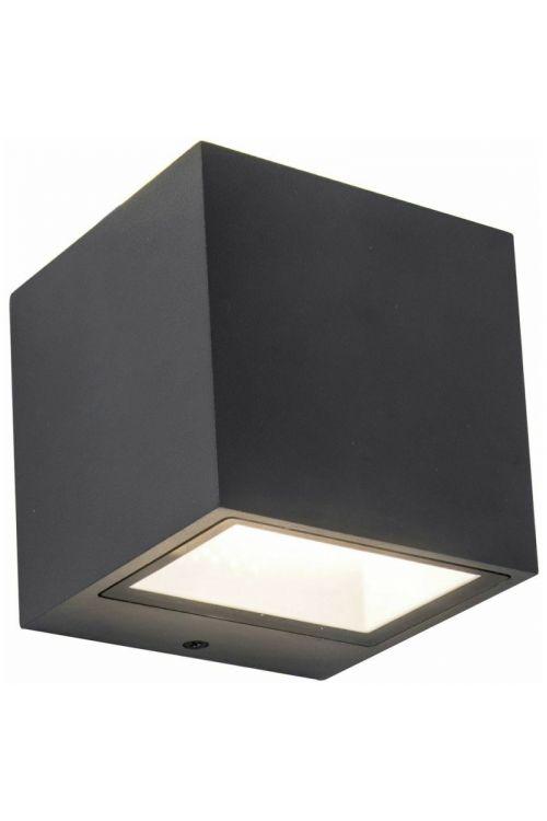 LED zunanja stenska svetilka Lutec Gemini (9 W, 8,8 x 8,5 x 8,6 cm, 850 lm, dnevno bela svetloba, antracit)
