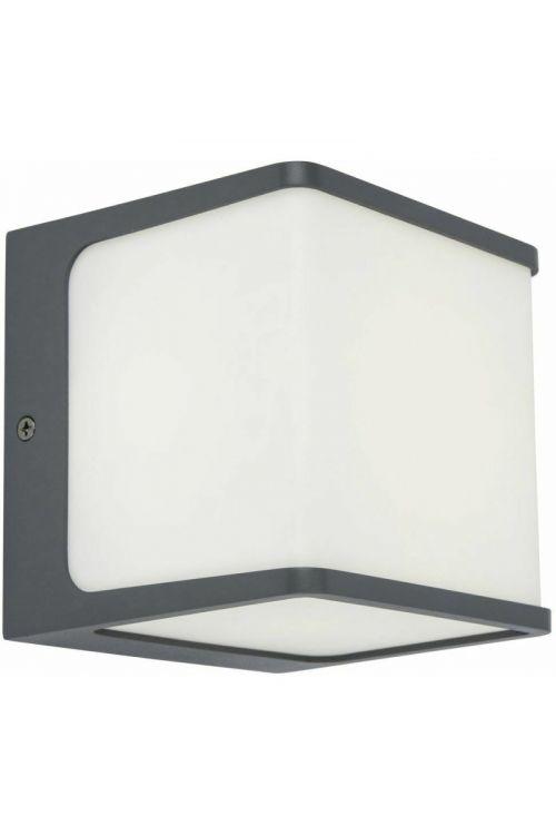 LED zunanja stenska svetilka Lutec Telin (15 W, 11 x 11 x 10 cm, 800 lm, toplo bela svetloba, antracit)