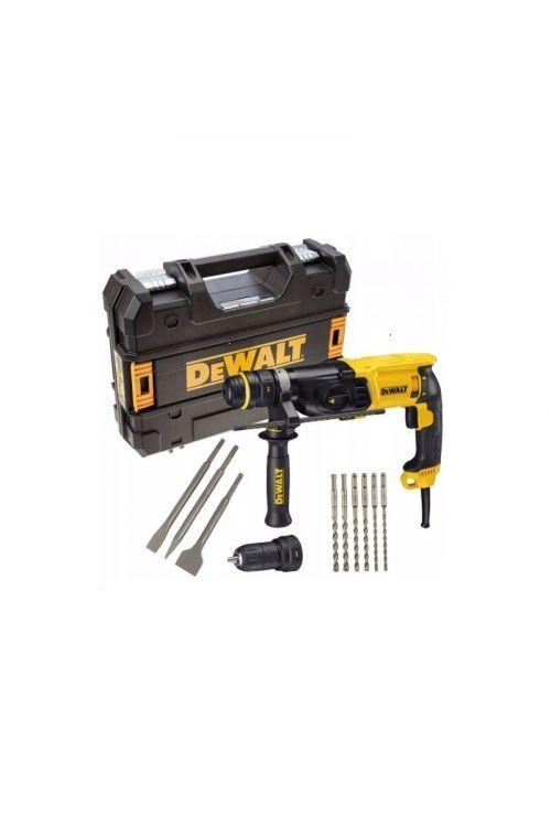 Vrtalno kladivo DeWALT D25144KP SDS Plus + set orodja (900 W, moč udarca: 3 J, 0–5.350 ud./min, 0–1.450 vrt./min)