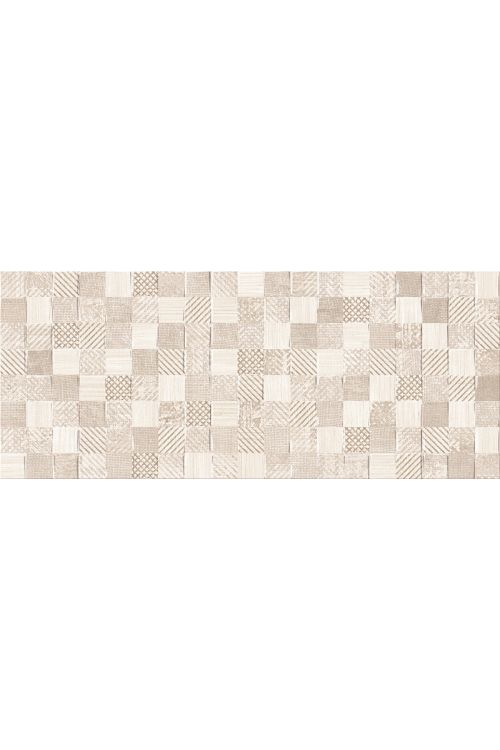 Stenska ploščica Linen (25 x 60 cm, rjava, dekor mozaik, mat)