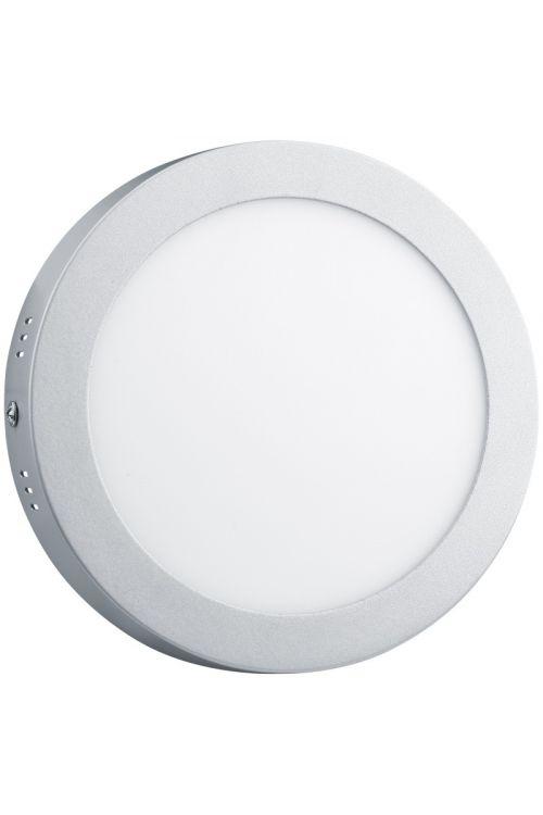 NADGRADNI LED PANEL SLIM (24 W, 1.800 lm, 4.000 K, premer 30 cm, višina 3,2 cm, IP20, srebrn okvir)