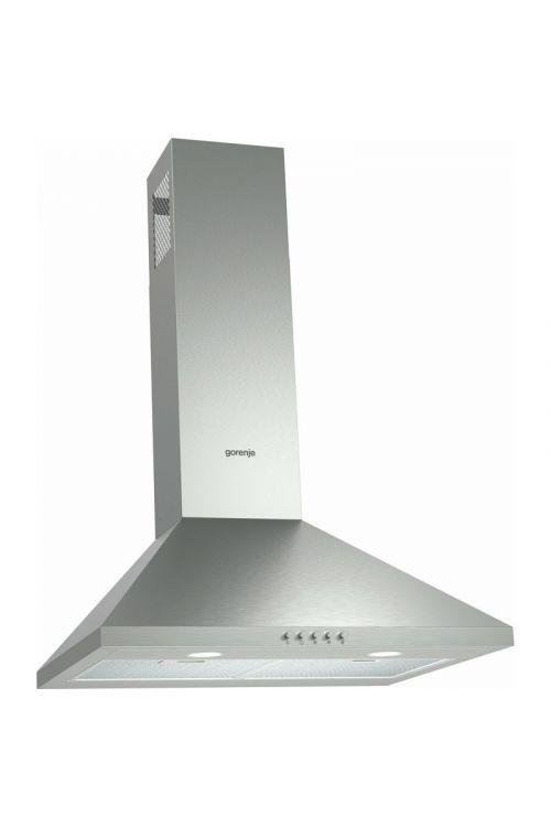 Stenska kuhinjska napa Gorenje WHC 623 E14X (60 cm, pretok zraka do 408 m³/h, legirano jeklo)
