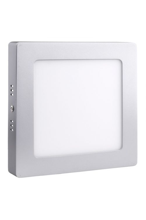 NADGRADNI LED PANEL SLIM (12 W, 900 lm, 4.000 K, d 17 x š 17 x v 3,2 cm, IP20, nadgradni, srebrn okvir)