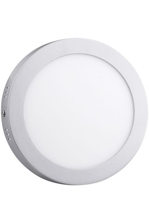 NADGRADNI LED PANEL SLIM (18 W, 1.350 lm, 4.000 K, premer 22,5 cm, višina 3,2 mm, IP20, srebrn okvir)