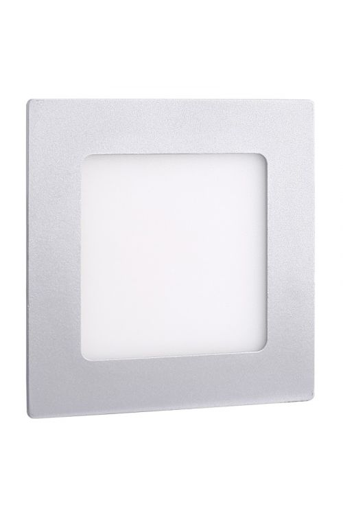 VGRADNI LED PANEL SLIM (6 W, 450 lm, 4.000 K, d 12 x š 12 x v 1,4 cm, IP20, srebrn okvir)