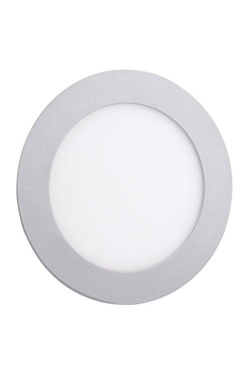 VGRADNI LED PANEL SLIM (18 W, 1.350 lm, 4.000 K, premer 22,5 cm, višina 1,4 cm, IP20, srebrn okvir)