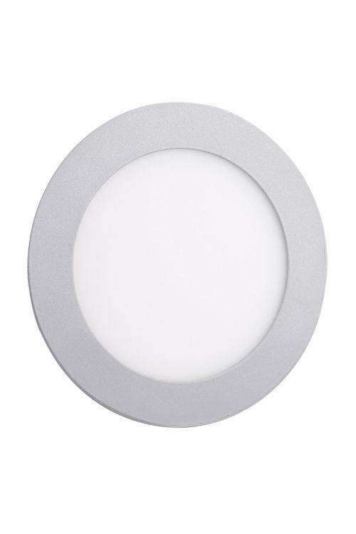 VGRADNI LED PANEL SLIM (6 W, 450 lm, 4.000 K, premer 12 cm, višina 1,4 cm, IP20, srebrn okvir)