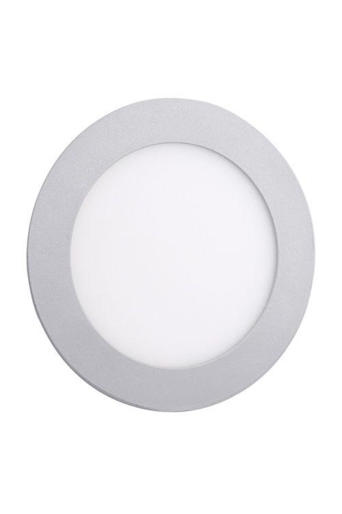VGRADNI LED PANEL SLIM (12 W, 900 lm, 4.000 K, premer 17 cm, višina 1,4 cm, IP20, srebrn okvir)