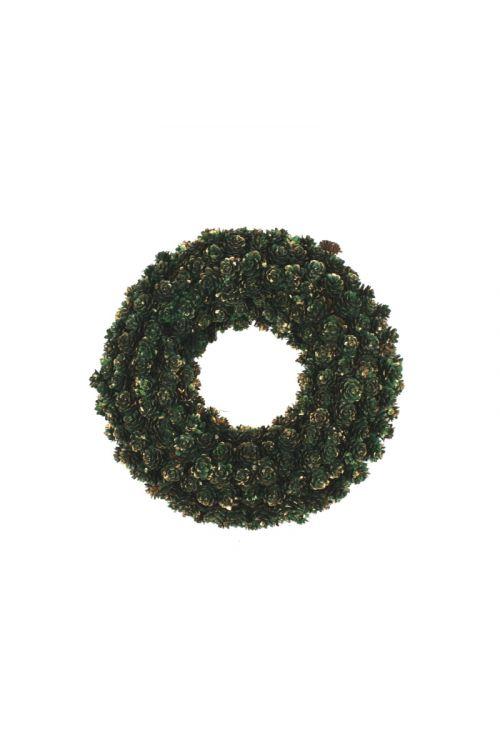 Okrasni božični venec zelene barve (32 x 32 x 7,5 cm)