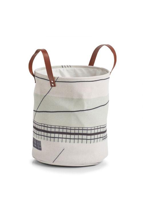 Koš za perilo Zeller Abstrakt (35 x 40 cm, z ročaji, tkanina)