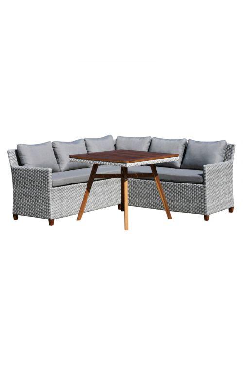 Lounge set Sunfun Neele (3-delni, FSC akacija in umetni ratan)