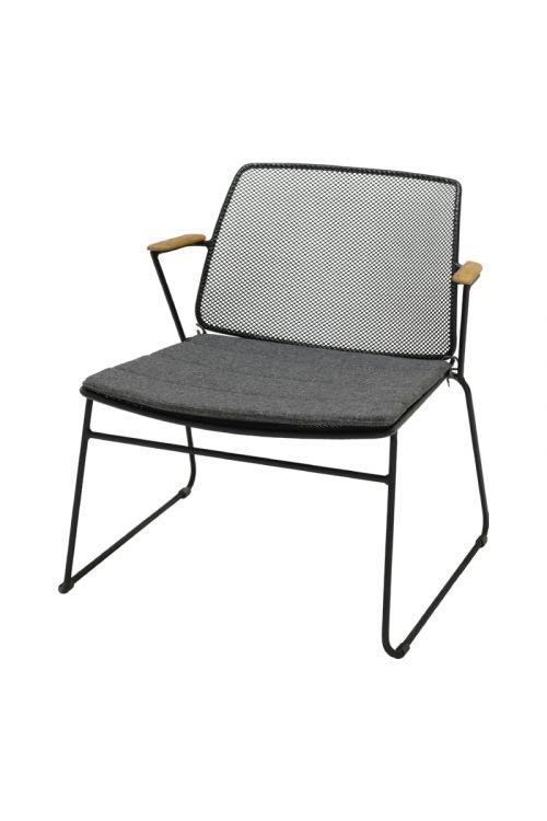 Vrtni stol Sensum Nordica Deluxe (d 74 x š 70,2 x v 76,9 cm, nakladalni, kovinsko ogrodje, z blazino
