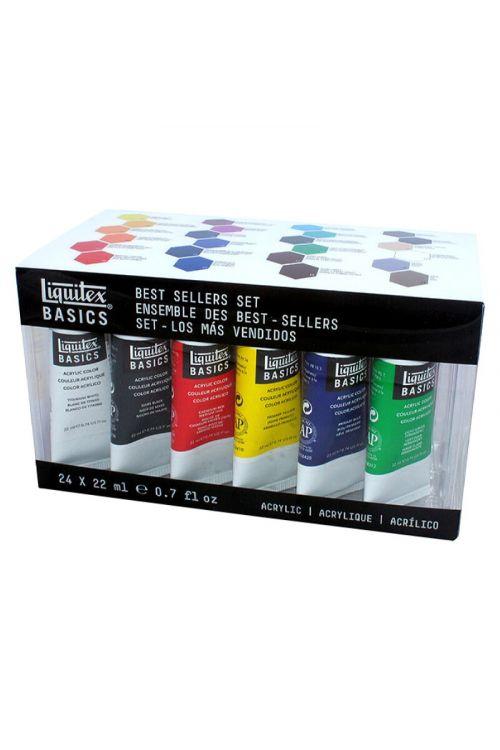 Akrilne barve Liquitex (set, 24 x 22 ml, osnovne)