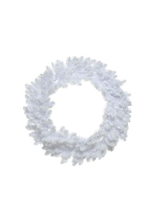 Adventni venček (premer 45 cm, PVC, bele barve)