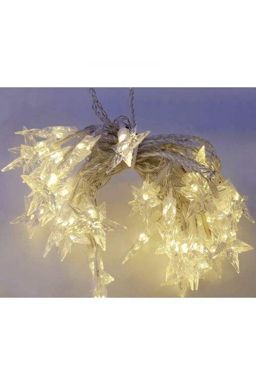 LED zvezdice, toplo bela (60 LED)