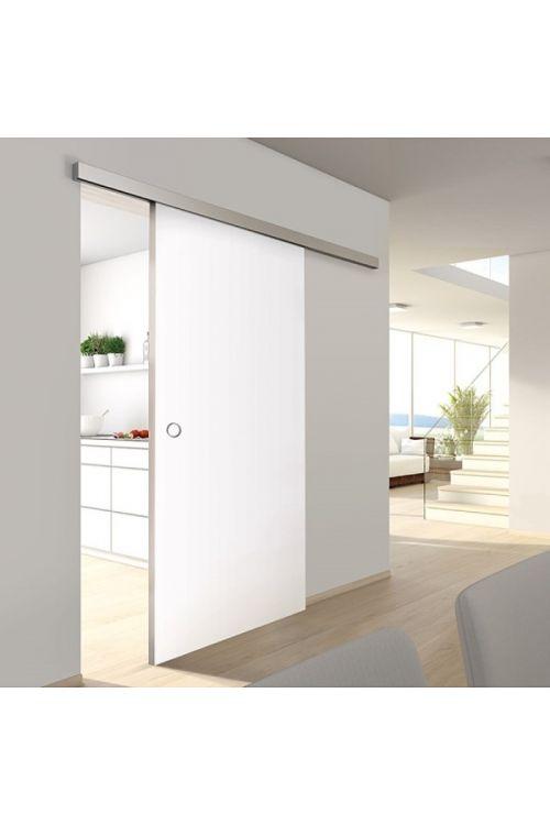 Drsna vrata Toledo 40 (Premium, bela lakirana, 900 x 2000 mm, alu vodila, samolepilini ročaj)